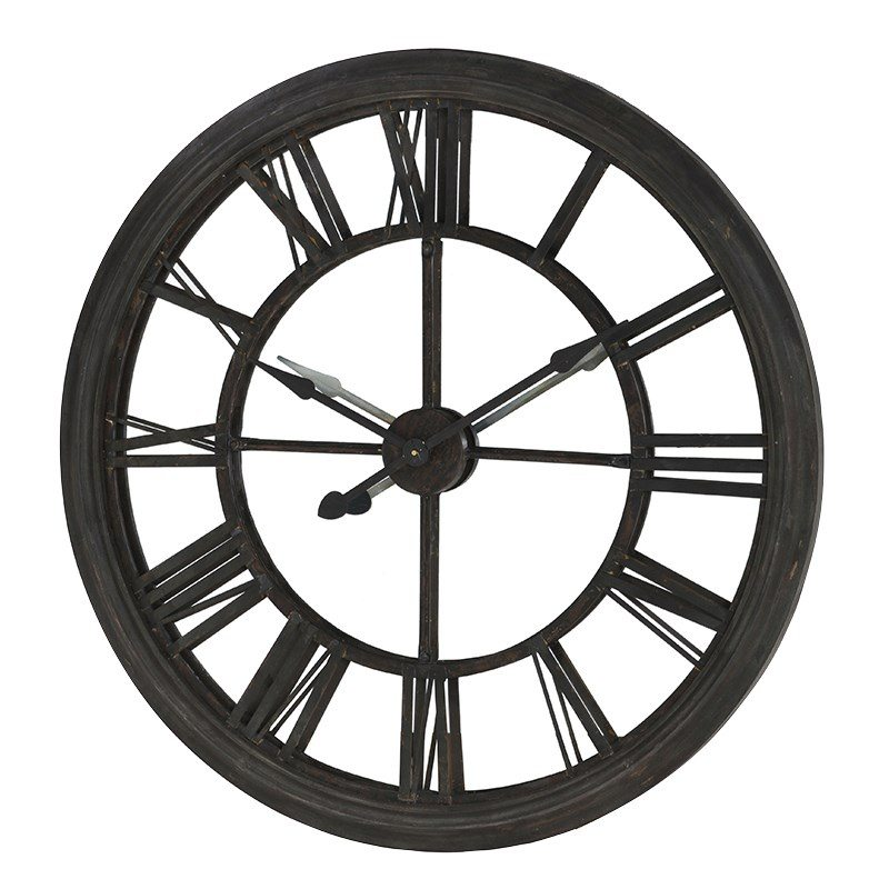 Abigail Metal Skeleton wall Clock