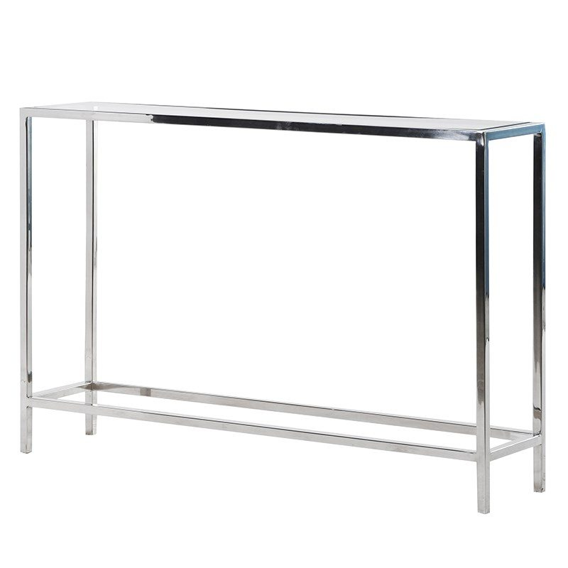 Charlotte Chrome Console Table
