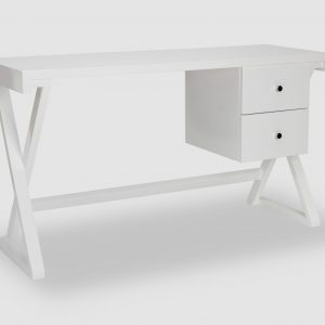 White High Gloss Wooden Desk