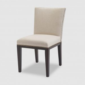 Cream Studded Dining Chair