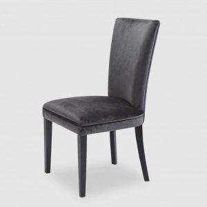 Slate Velvet Dining Chair