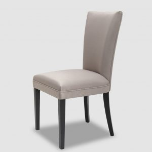 Taupe Satin Dining Chair