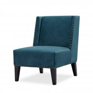 Vesta Emerald Green Velvet Occasional Chair