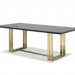 Wenge Brass Dining Table