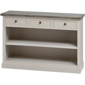 The Studley Collection Three Drawer Low Bookcase