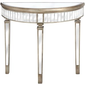 The Belfry Collection Half Moon Mirrored Table